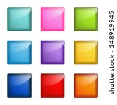 set of square web buttons | Shutterstock .eps vector #148919945
