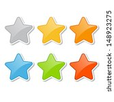 star stickers | Shutterstock .eps vector #148923275