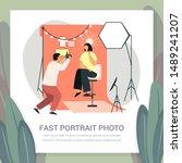 photographer taking fast... | Shutterstock .eps vector #1489241207