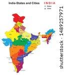 vector illustration of states... | Shutterstock .eps vector #1489257971