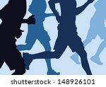 illustration of a group of men... | Shutterstock .eps vector #148926101