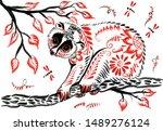 lori lemur in a tree in...   Shutterstock . vector #1489276124