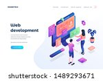 web development landing page...