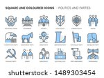 politics and parties related ... | Shutterstock .eps vector #1489303454