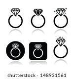 diamond engagement ring vector...