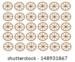 wagon wheel vector   repeating... | Shutterstock .eps vector #148931867