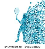 tennis players silhouettes... | Shutterstock .eps vector #148935809