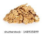 pile of cereal muesli on white... | Shutterstock . vector #148935899