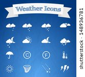 weather icons web collection  | Shutterstock .eps vector #148936781