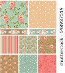 Rose Floral Vector Patterns. ...