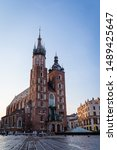 mariacki cathedral in cracow in ...
