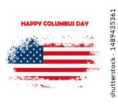 happy columbus day national usa ... | Shutterstock . vector #1489435361