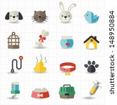 pet icons | Shutterstock .eps vector #148950884