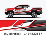 truck and car decal design... | Shutterstock .eps vector #1489533557