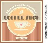 coffee shop vector template... | Shutterstock .eps vector #148953821