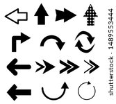 arrows set with different style ... | Shutterstock .eps vector #1489553444