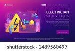 electrician engineer ... | Shutterstock .eps vector #1489560497