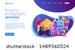 couple choosing apartment. real ... | Shutterstock .eps vector #1489560524