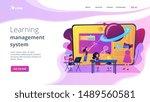 futuristic classroom  little... | Shutterstock .eps vector #1489560581