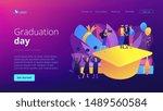 graduating with friends. proud... | Shutterstock .eps vector #1489560584