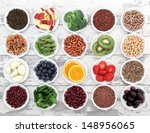 large super food selection in... | Shutterstock . vector #148956065
