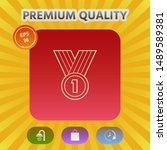 medal line icon . graphic... | Shutterstock .eps vector #1489589381