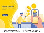online transfer concept with...