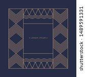 minimalist postcard for text.... | Shutterstock .eps vector #1489591331