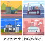 industrial enterprises vector ... | Shutterstock .eps vector #1489597697