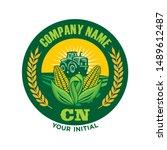 farms logo  tractor logo  corn... | Shutterstock .eps vector #1489612487
