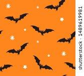 halloween seamless patterns... | Shutterstock .eps vector #1489619981