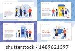 set informational banner is... | Shutterstock .eps vector #1489621397