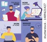 set informative flyer... | Shutterstock .eps vector #1489621427