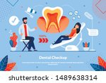 informational flyer is written...   Shutterstock .eps vector #1489638314