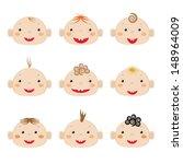 babies icons  | Shutterstock .eps vector #148964009
