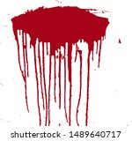 a spot of blood. stains blood... | Shutterstock .eps vector #1489640717