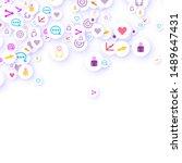 social media marketing ... | Shutterstock .eps vector #1489647431