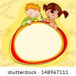children's school yellow...   Shutterstock .eps vector #148967111