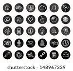 social icons   black and white... | Shutterstock .eps vector #148967339