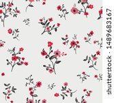 cute floral pattern in the... | Shutterstock .eps vector #1489683167