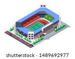 3d isometric square ground... | Shutterstock . vector #1489692977