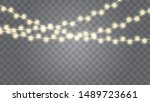christmas lights isolated...   Shutterstock .eps vector #1489723661