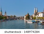 zurich in a sunny day of... | Shutterstock . vector #148974284