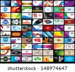 set business card | Shutterstock .eps vector #148974647