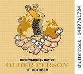 international day of older... | Shutterstock .eps vector #1489761734