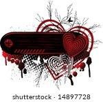 background heart emo banner ... | Shutterstock .eps vector #14897728