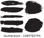 vector brush set. black lines... | Shutterstock .eps vector #1489782794