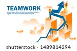 business teamwork concept... | Shutterstock .eps vector #1489814294