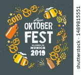 oktoberfest handwritten... | Shutterstock .eps vector #1489815551