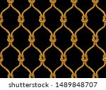 rope seamless tied fishnet... | Shutterstock . vector #1489848707